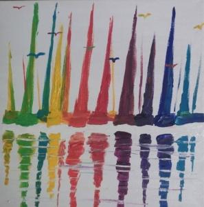 Sailboat Rainbow Image