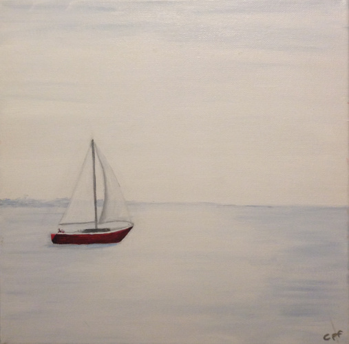 Sailboat in White