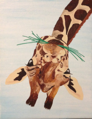 upside down giraffe