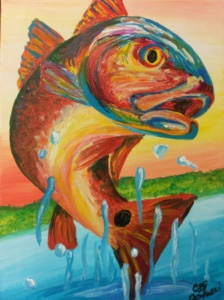 Redfish 9x12 $65