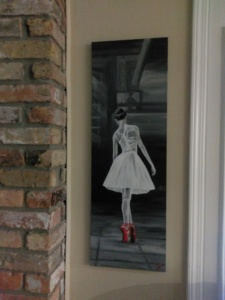 red-shoe-ballerina-on-wall