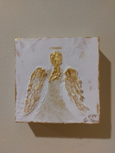 Angel In Gold on Canvas Image
