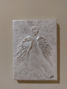 Angel In Silver on Canvas Image