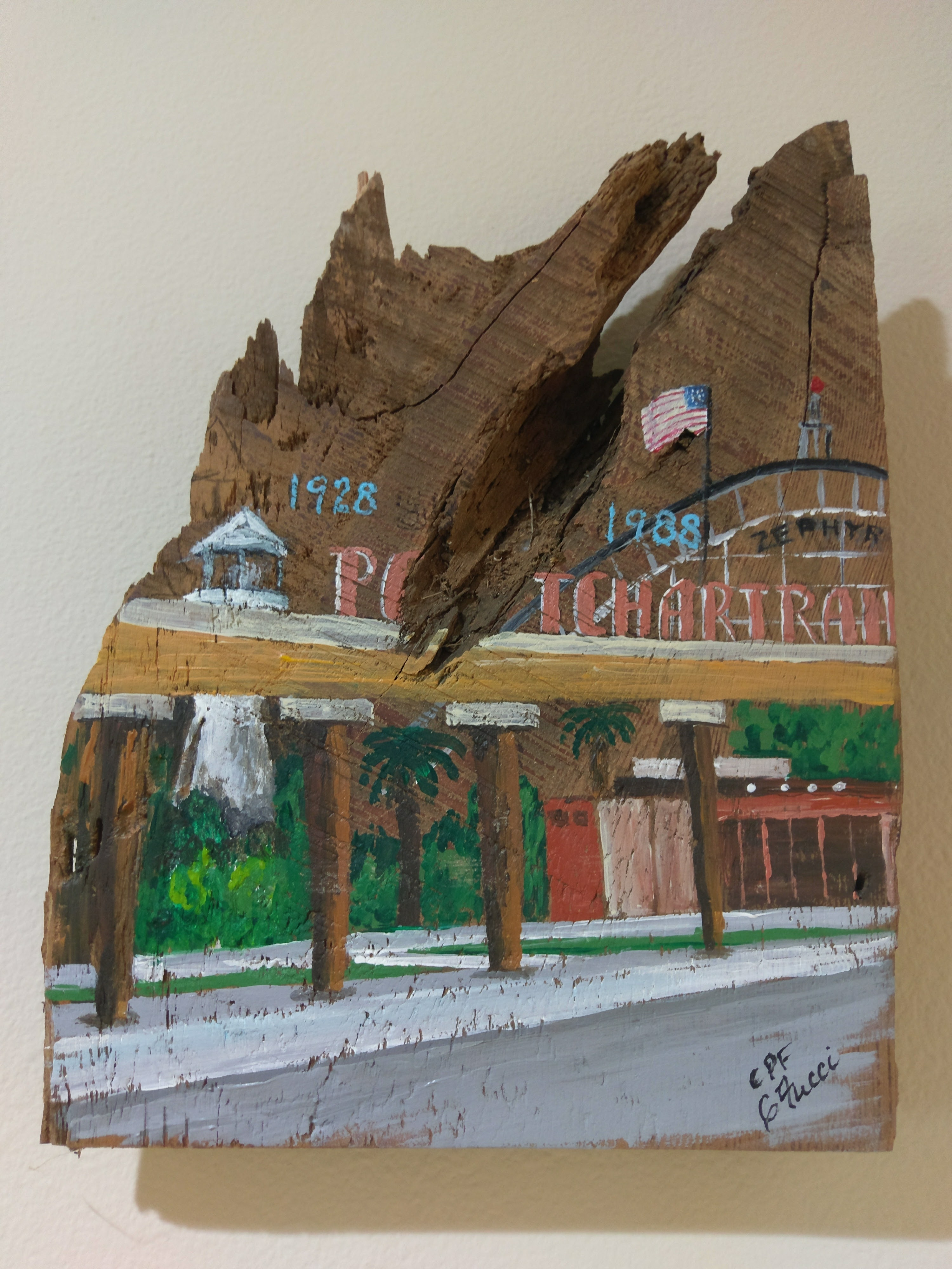 Pontchartrain Beach on Reclaimed Wood Image