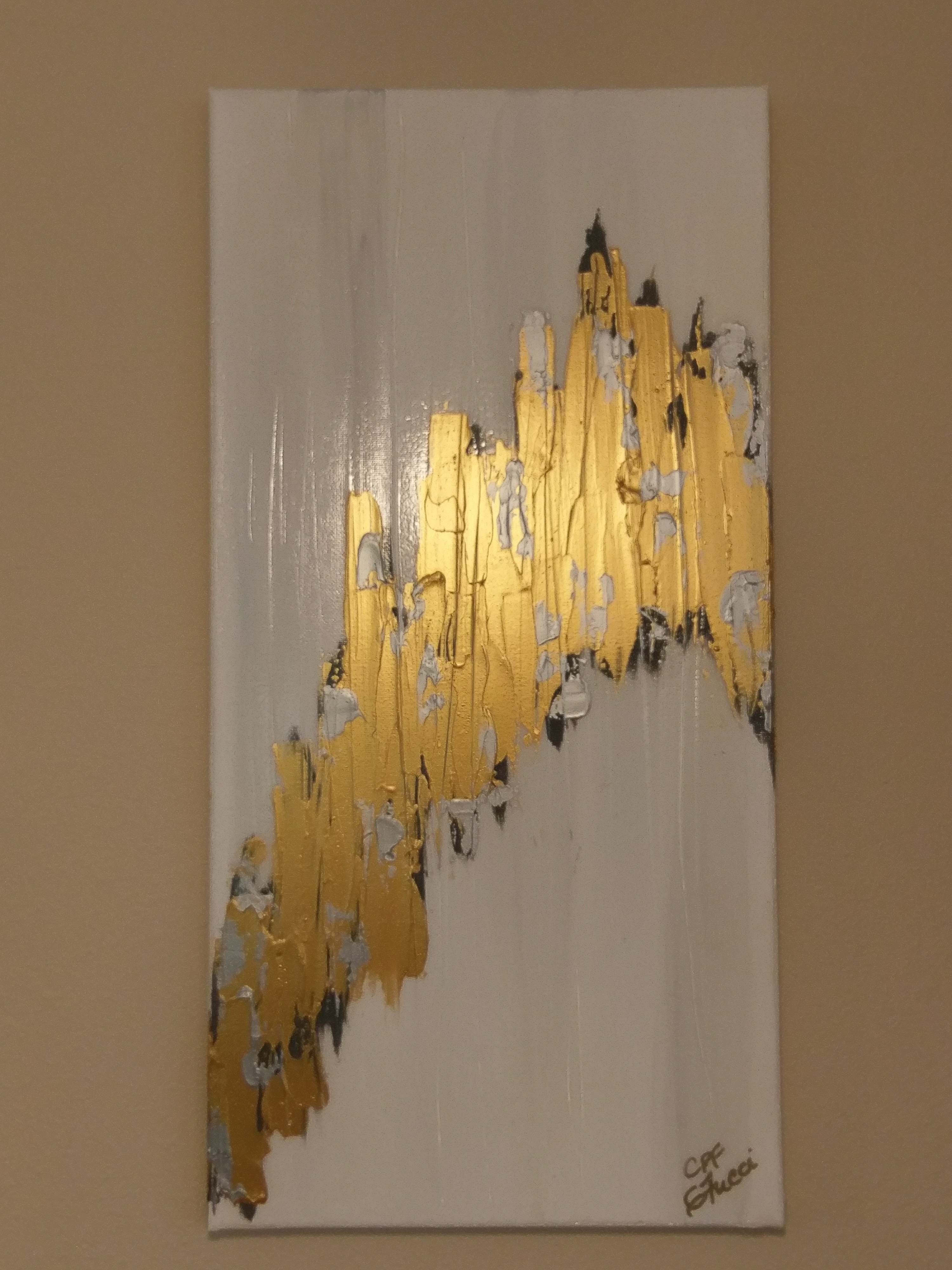 gold rainbow abstract home decor c p f paintings