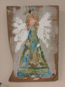 Angel 11 on Reclaimed Wood Image