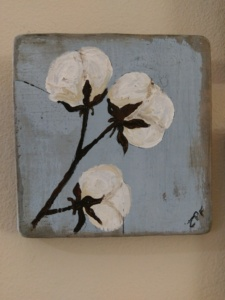 Cotton 1 on Reclaimed Wood Image