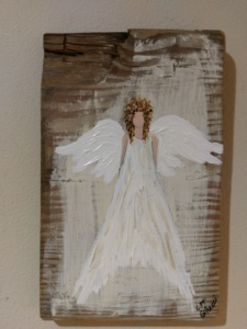 Angel 4 on Reclaimed Wood Image