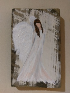 Angel 5 on Reclaimed Wood Image