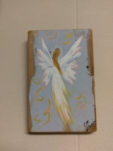 Angel 9 on Reclaimed Wood Image