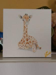Nursery Baby Art - Giraffe Image
