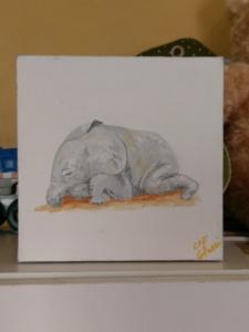 Nursery Baby Art - Elephant Image