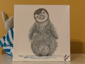 Nursery Baby Art - Penguin Image