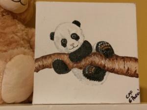 Nursery Baby Art - Panda Image