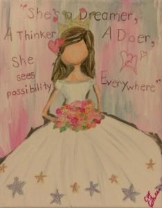 Girls Room Art -She
